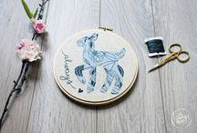 | embroidery. / Hand stitch embroidery art