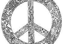 Antistress coloring - Peace signs
