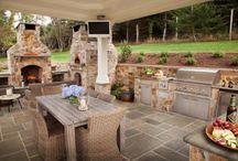 Venkovní kuchyně, zahrady