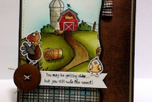 Cards_Farm life / Poultry in Motion  theme cards made using Whimsie Doodles Clear Stamps