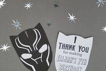 Decoração festa pantera negra