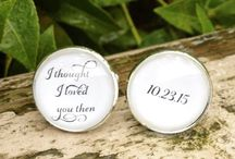 Cuff Links / Wedding Day Cuff links for Men, Personalized Custom Wedding Gift for Groom