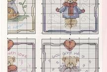 cross stitch Teddy Bears