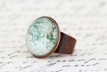 Map Rings / Handmade map rings made by Jacaranda Designs
