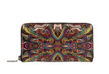 Wallet - I Sing In Colours / Women Leather Wallet, Limited Edition Designer Leather Wallet COLOURS OF MY LIFE - Limited Edition wearable art signed by Anca Stefanescu.