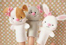 игрушки из фетра и ткани