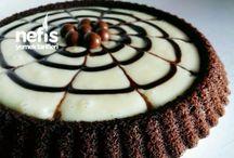 Muhallebili tart kek