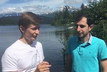 Первый день путешествия по Аляске. В кадре: Григорий Шамаряев и Артем Мельник. Место: Медвежье Озеро