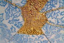Textiles gilded
