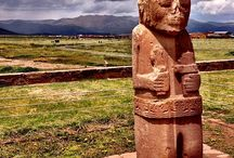 Tiwanaku (Tiahuanaco) / The most important archaeological site of Bolivia, more then 2500 years back in history