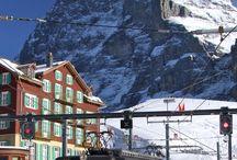 Jungfraujoch, Swiss. / Szczyt w alpach szwajcarskich, najwyższa kolejka szynowa w Europie. Wengen Jungfraujoch.