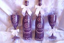 Pahare si sticle handmade / Pahare si sticle pentru ocazii deosebite.
