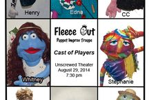 Fleece Out, Puppet Improv Troupe / Images from Fleece Out, Tucson AZ, puppet improv troupe.