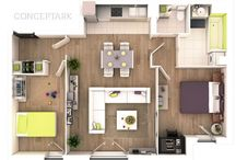Floor Plans for 3D Design / by Kim MacNeil