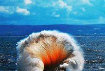 object en gevoel water/onderwatervulkaan