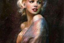 Marilyn Monroe in ART /  www.facebook.com/TheoDanella ©  SHOPS:  www.theo-danella.pixels.com  www.redbubble.com/de/people/theodanella www.1-angie-braun.pixels.com  www.redbubble.com/people/angiebraun