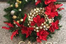 Holiday Wreaths in Commercial buildings