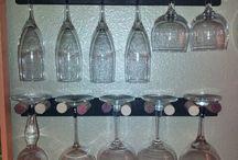 wine glasses rack