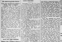 Vintage newspaper articles
