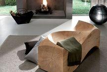 木 長椅子