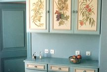 painted cupboards