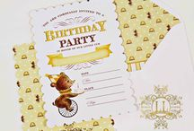 Birthday Bear Collection / A whimsical party collection by Loralee Lewis just for your little cub!  You can find the whole collection here: http://www.loraleelewis.com/store/pc/Birthday-Bear-c1048.htm