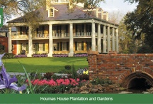 Houmas House / The Houmas, also known as Burnside Plantation and currently known as Houmas House Plantation and Gardens, is a historic plantation complex and house museum in Burnside, Louisiana. The plantation was established in the late 1700s, with the current main house completed in 1840. It was named in honor of the native Houma people, who originally occupied this area of Louisiana.