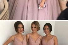 Pink bridesmaids dress