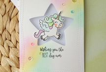 Card ideas unicorns and rainbows