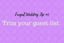 My 5 Top Frugal Wedding Tips