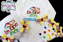 Chevron Fancy for Tots / Fun birthday ideas with a mix of chevron fabric, sparkle ribbons, and the option to personalize!