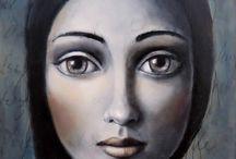 Arte Ilustração Pintura Retratos
