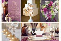 Plum gold wedding theme