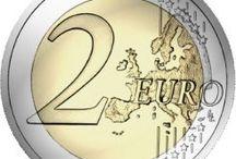 1, 2, 5 ,10  20 ,  euro coins ,
