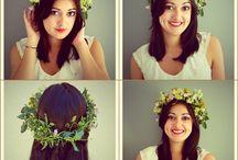 Couronne de fleurs / Création d'une couronne de fleurs