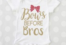 Decorated Baby Items / Vinyl and Embroidered Onesie's and other Baby Items