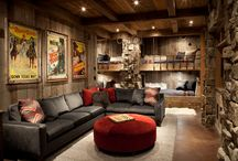 "Basement and Den Ideas / Every man needs his ""Man Cave."""
