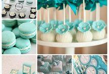 festa de 15 anos azul turquesa