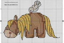 Cross stitch - brown horses