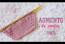 aumentar pontos no tricot