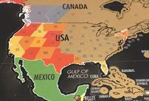 Interactive Maps for Homeschooling / Make Geography their favorite subject with these interactive scratch off maps from Landmass