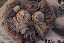 kwiatki z materiału