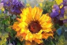 Sunflower-Acrylic