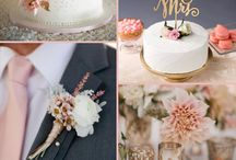 Blush and charcoal Gray Wedding Color Inspirations