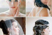 Wedding Hair and Veils / Hair design and hair pieces #weddinghair #weddingveils