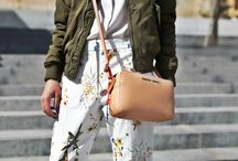 Flower Print Trousers + Bomber Jacket / http://pavlistyle.com/mfw-flower-print-trousers-bomber-jacket/ / by PavliStyle