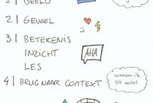 Visual storytelling / Visuele aantekeningen die ik maak tijdens interessante gesprekken, trainingen en lezingen.