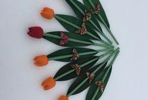 Textil tulipánok