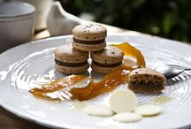 GREEK COFFEE / Macaron with white chocolate ganache, freshly roasted Greek coffee and orange peel glazed with five spices and herbs. (photo:Dionisis Andrianopoulos, Styling: Anestis Michalis, Photographer assistant: Konstantina Statha)