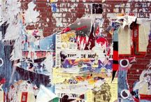 grafitti/poster walls